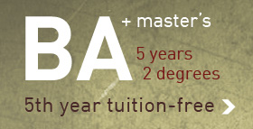 BA/MA Program - 5th Year Free