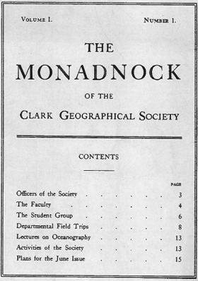 Cover of the first issue of The Monadnock