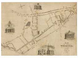 Phelps map of Worcester, 1829